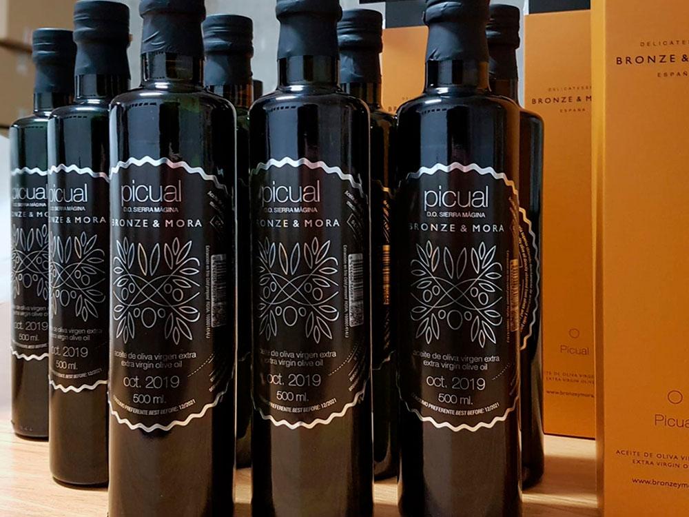 conservación del aceite de oliva nuevo acabado de nuestras botellas