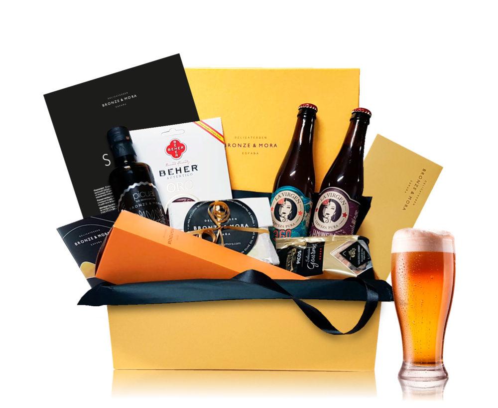 cesta de cervezas a domicilio bronze y mora