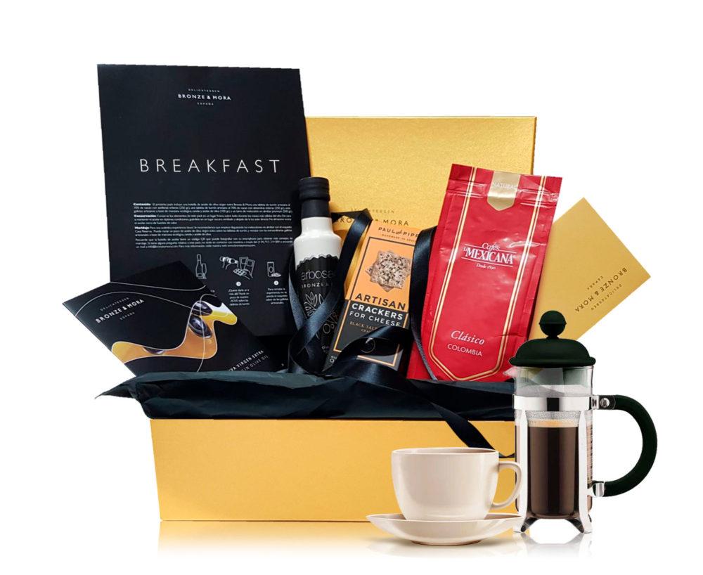 desayuno para dos cafe de colombia cesta regalo bronze y mora