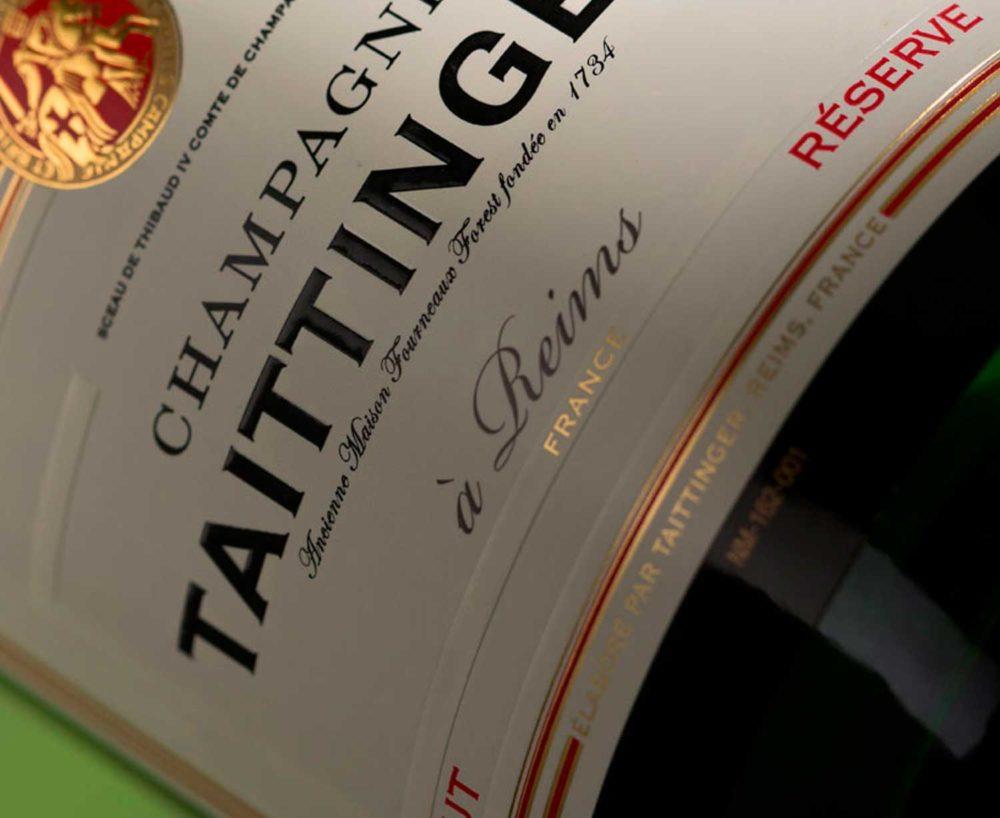 champagne taittinger bronze y mora